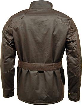 Cazadora de motociclista para hombre de Game, 100% algodón encerado: Amazon.es: Ropa y accesorios