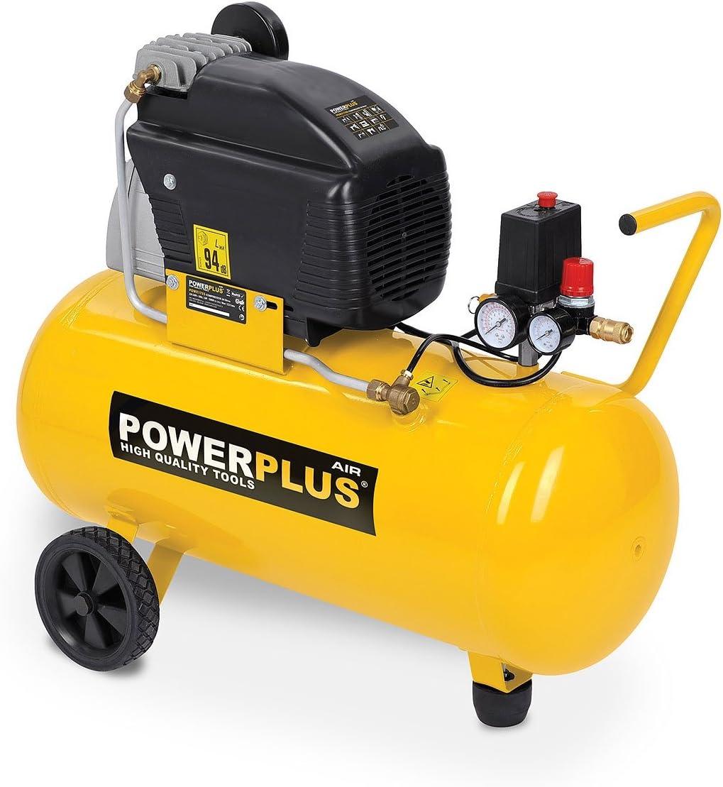 Druckluft Kompressor 1 500 Watt 2 Ps 8 Bar 50 Liter Tank Art Powx1760 Baumarkt