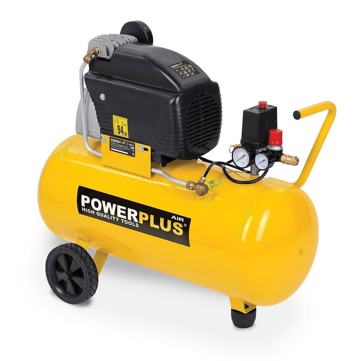 Powerplus POWX1760 Compressor - 1500 W - Werkdruk 8 bar - Tankinhoud 50 l: Amazon.es: Bricolaje y herramientas