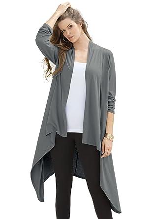 9aa38937b38d26 Roaman s Plus Size Maxi Draped Cardigan at Amazon Women s Clothing store