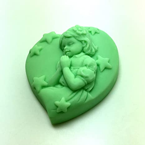 Amazon.com: soap mould heart shaped handmade soap silicone mold