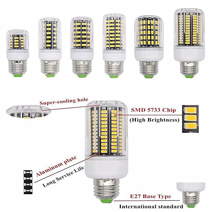 Amazon.com: 1 PC SMD Lampada LED Lamp Ampoule Bulb LED Bombillas LED Light Bulb Spot Lamparas Spotlight Emitting Color: New Milky, E9 B22 Cool White: Home & ...