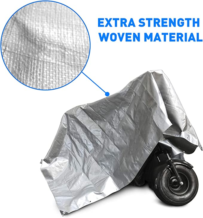 15x15-Sliver EasyGo Products EGP-NCR-TARP2-M Hercules Tent Shelter Tarp Cover Waterproof Tarpaulin Plastic Tarp Protection Sheet for Con