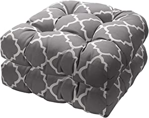 IN4 Care Outdoor Indoor Tufted Seat Cushion, All Weather Patio Furniture Chair Pads, 19