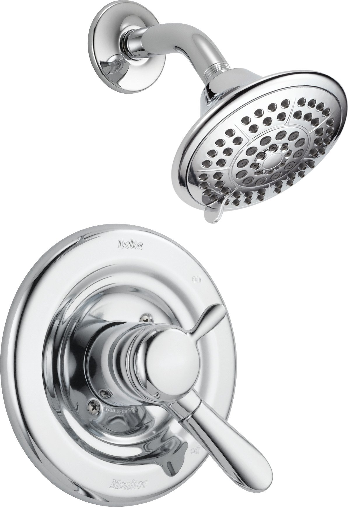 Delta Lahara 17 Series Dual-Function Shower Trim Kit with 5-Spray Touch Clean Shower Head, Chrome T17238 (Valve Not Included)