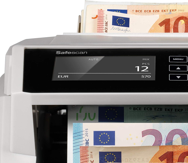 Safescan 2465-S Contabanconote per banconote miste euro con rilevamento della contraffazione in 7 punti