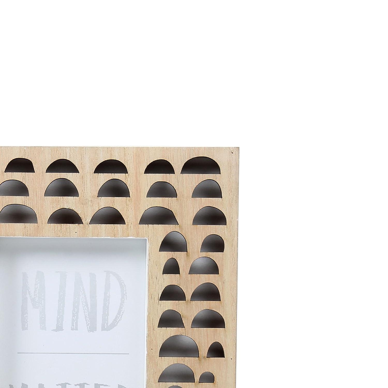 Truu Design 4 x 4 inches Wood Circle Cutout Picture Frame