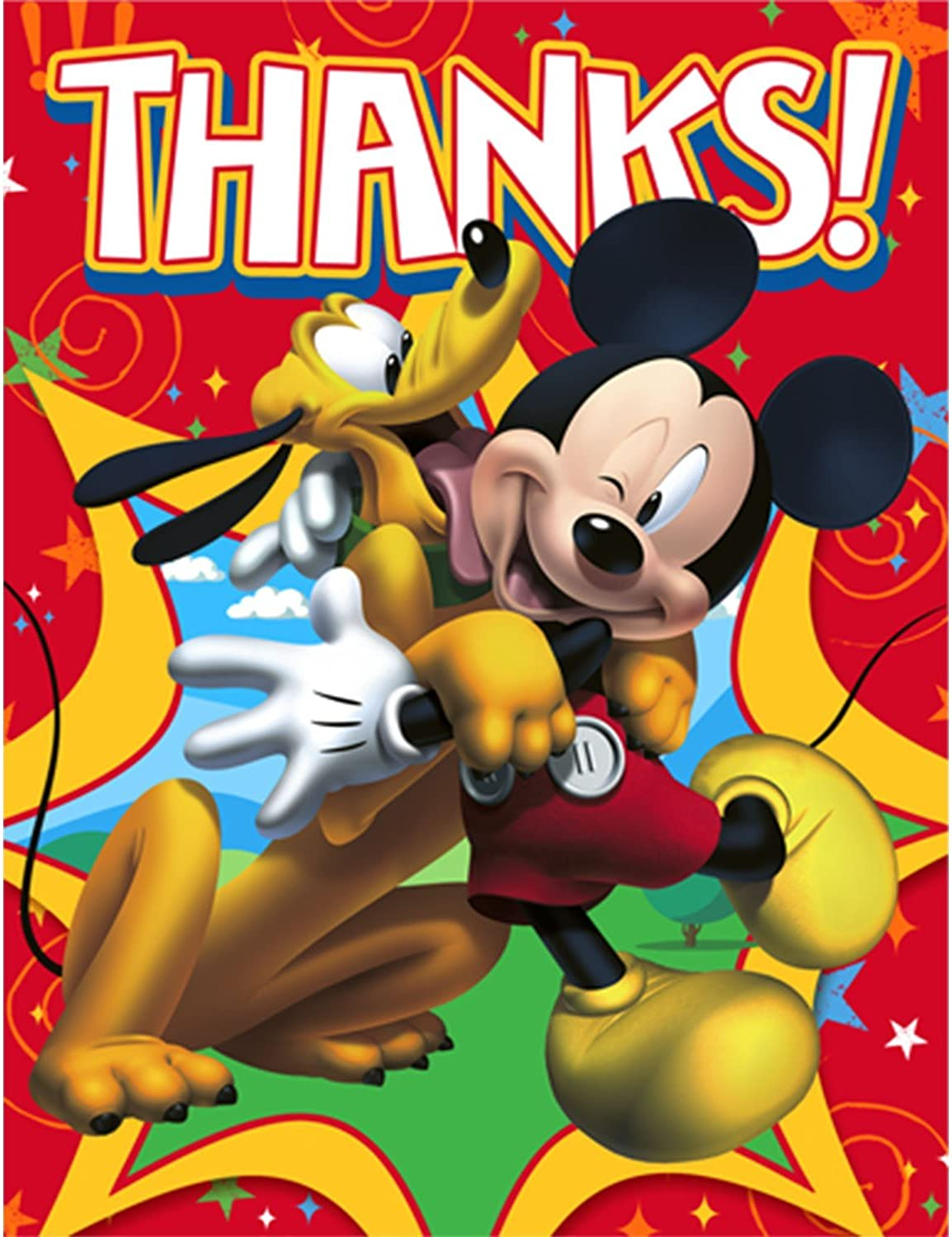 Hallmark Mickey Mouse Fun and Friends Thank You Notes w// Env. 8ct