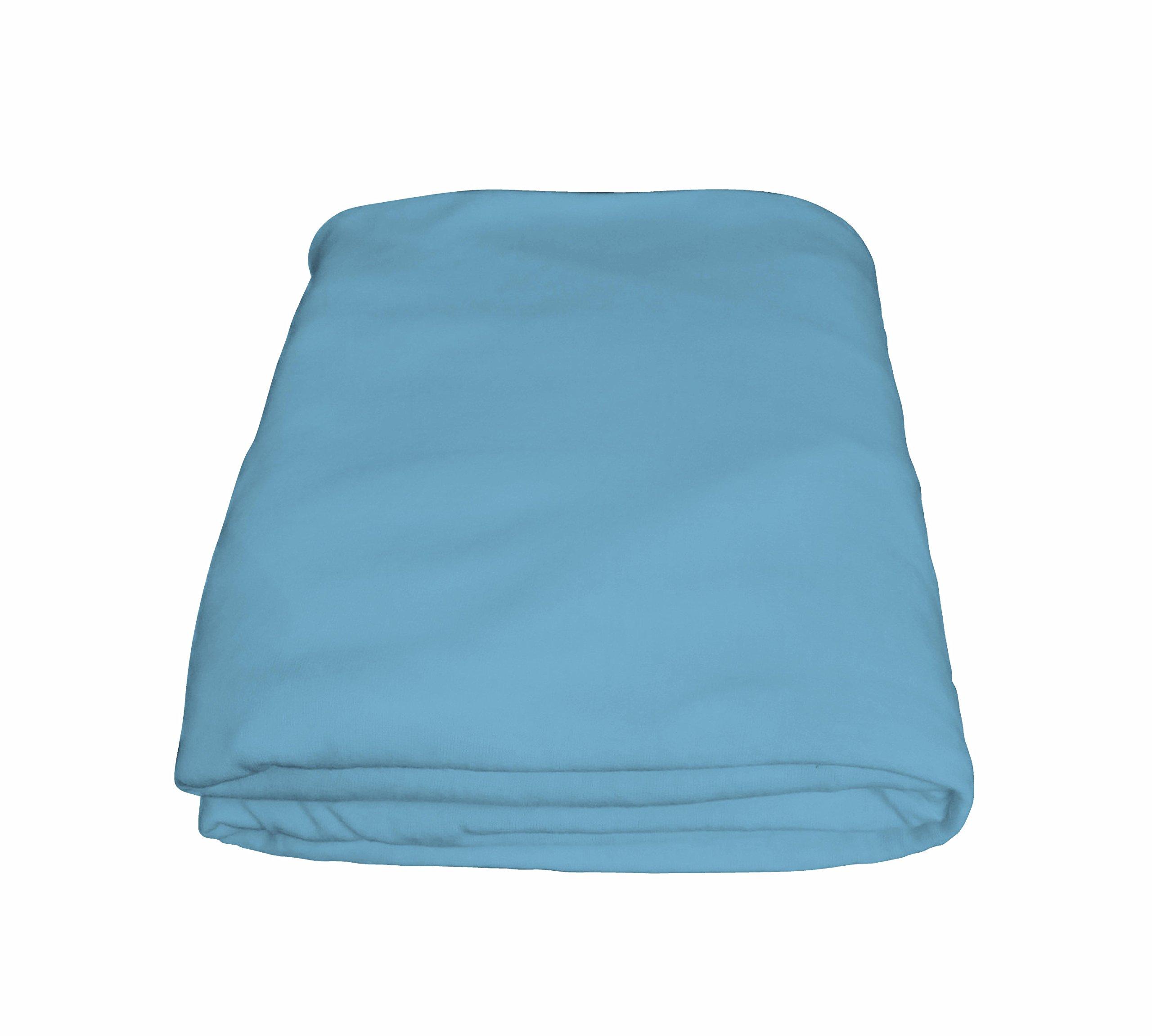 Crescent Comfy 100% Cotton Flat Hospital light blue Bed Sheets