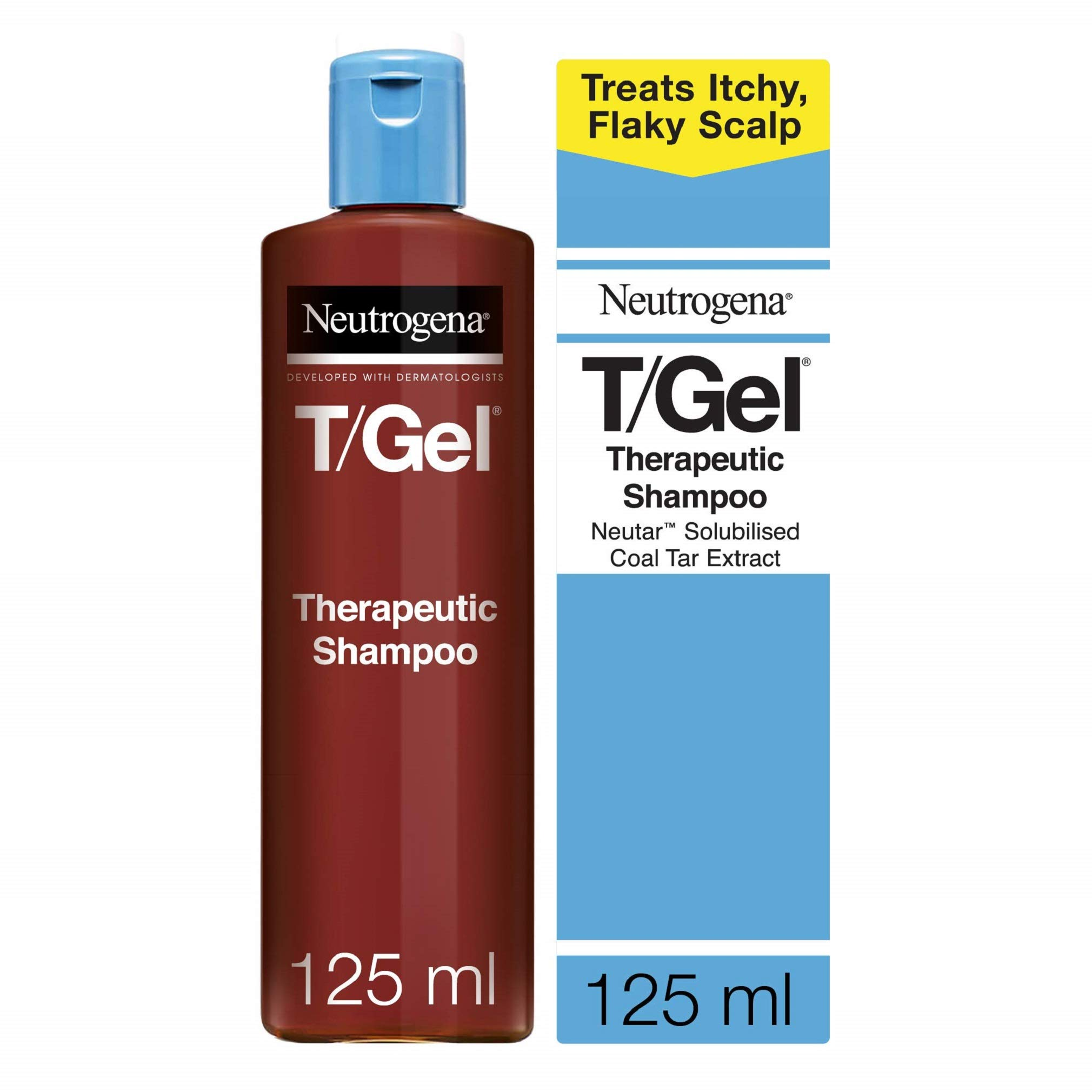 Neutrogena T/Gel Therapeutic Shampoo Treatment for Scalp Psoriasis, Itching Scalp and Dandruff 125ml