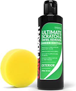Carfidant Green Car Scratch Remover - Ultimate Scratch and Swirl Remover for Green Color Paints - Polish & Paint Restorer - Easily Repair Paint Scratches, Scratches, Water Spots! Car Buffer Kit