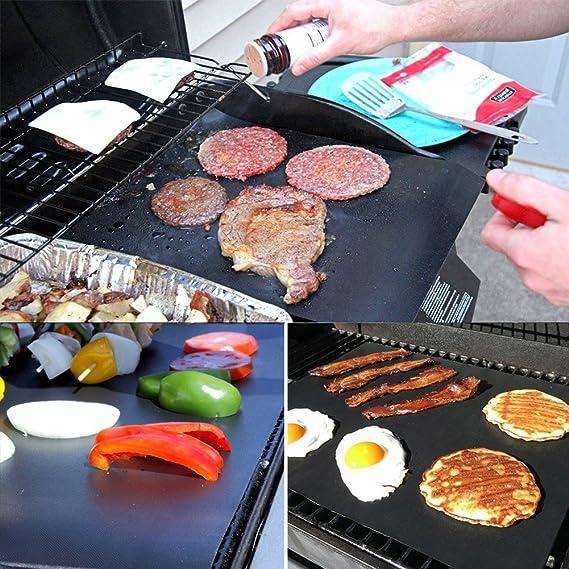 BBQ Grillmatten Matte Handwaschbar 40*33cm Langlebig 2 Stück wiederverwendbar