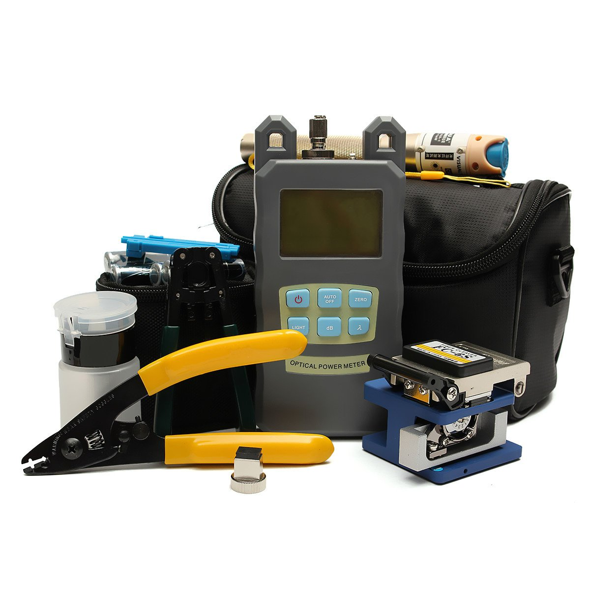 Fiber Optic Ftth Tool Kit With Fc-6S Fiber Cleaver And Optical by NDBD