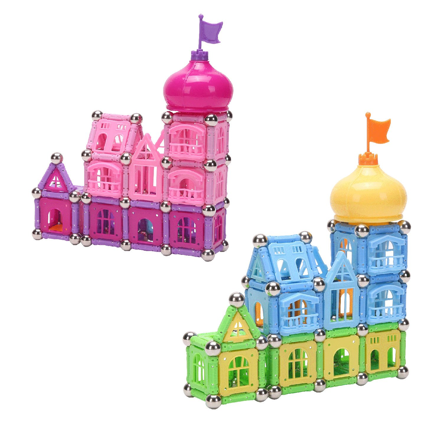 Witka Magnetic Building Blocks Princess Castle Playset 158 Pieces