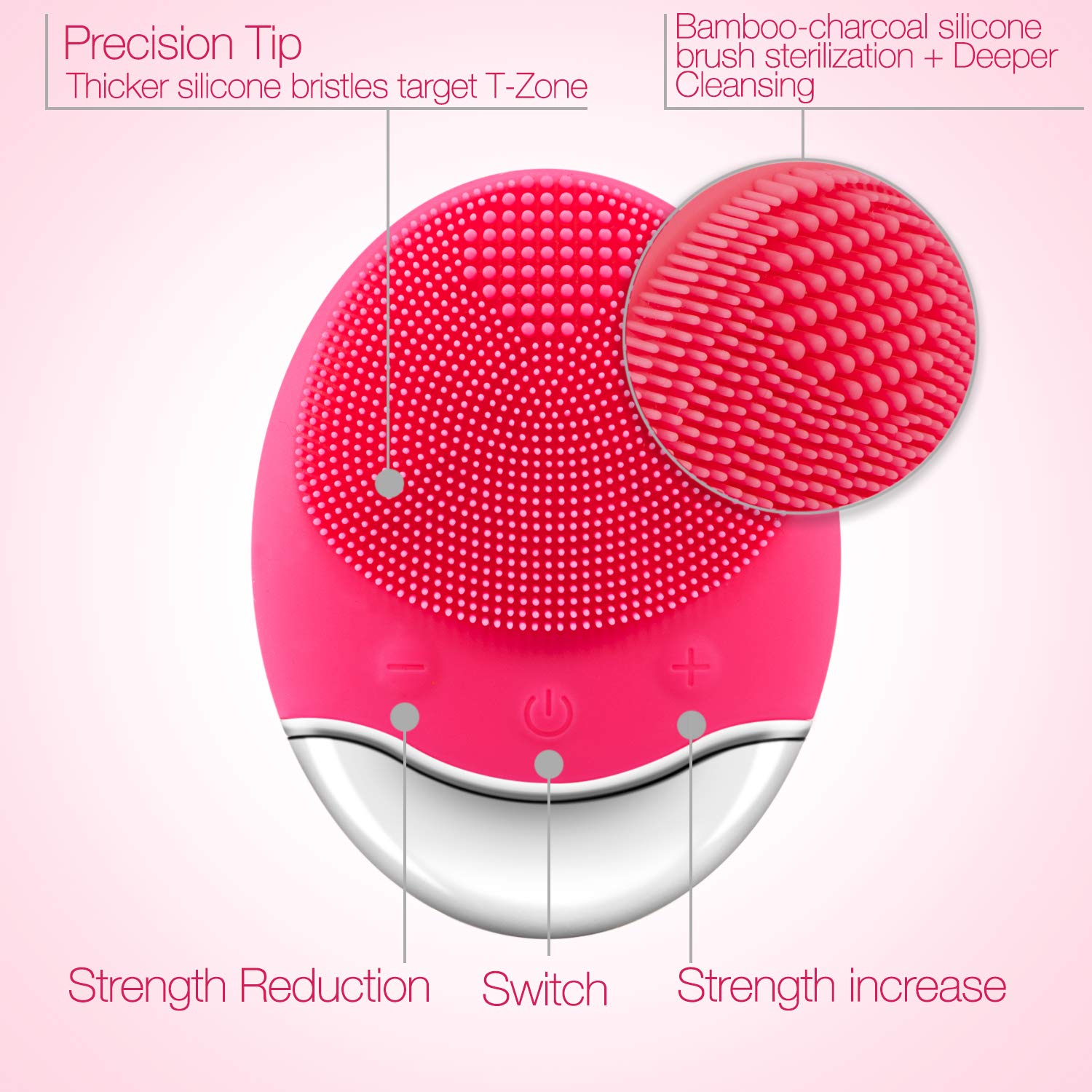 EIFI Facial Cleansing Brush, Wireless Charger Sonic Face Brush with 3 Modes For Cleaning Soothing Importing Nutrition and Reducing Blackhead Acne Anti-Aging, Skin Care Face Massager IPX7 Waterproof