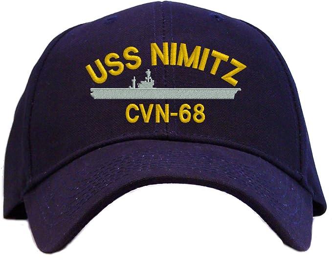 97f33e95955c3 Amazon.com  USS Nimitz CVN-68 Embroidered Baseball Cap - Navy  Clothing