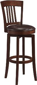 Hillsdale Furniture Canton Swivel Bar Stool, Brown