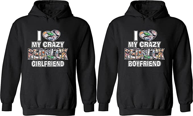 2f0e55cfd I Love My Crazy Redneck Girlfriend & Boyfriend -Matching Couple Shirts Love  Tees