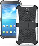 Heartly Flip Kick Stand Hard Dual Armor Hybrid Rugged Bumper Back Case Cover For Samsung Galaxy Mega 6.3 I9200 I9205 - White