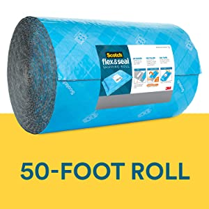 Scotch Flex and Seal Shipping Roll, 50 ft x 15 in, Simple Packaging Alternative to Cardboard Boxes, Bubble Mailers, Poly Bags, Cushioning