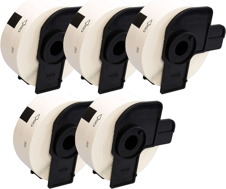 Compatible Rollo DK-11201 29mm x 90mm Etiquetas adhesivas para Brother P-Touch QL-500 QL-550 QL-560 QL-570 QL-700 QL-720NW QL-800 QL-810W QL-820NWB QL-1050 QL-1100 QL-1110NWB 400 Etiquetas por Rollo