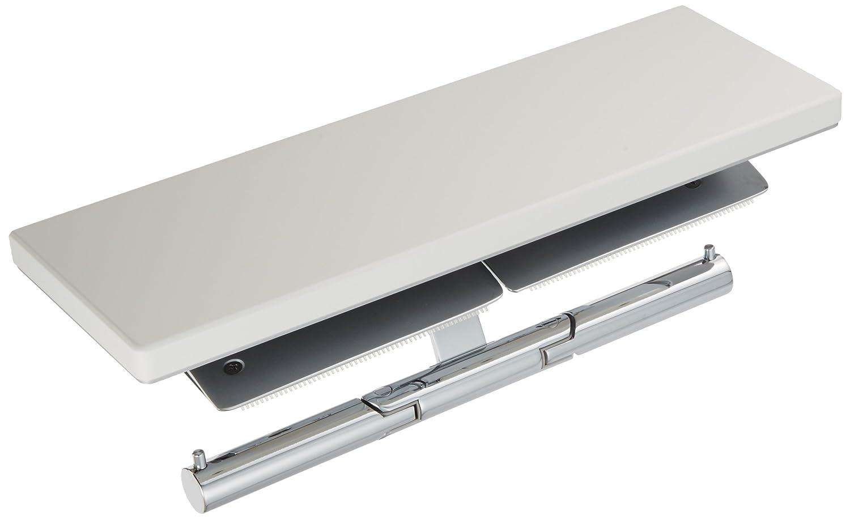 TOTO 二連紙巻器 棚付き(天然木) メタル製(マット) ミルベージュ YH63KM#MLW 芯棒固定式 B016BO0RN8 ミルベージュ|マット仕上げ芯棒固定 ミルベージュ