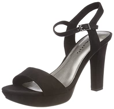 Womens 28398 Sling Back Sandals, Black, 3 UK Tamaris