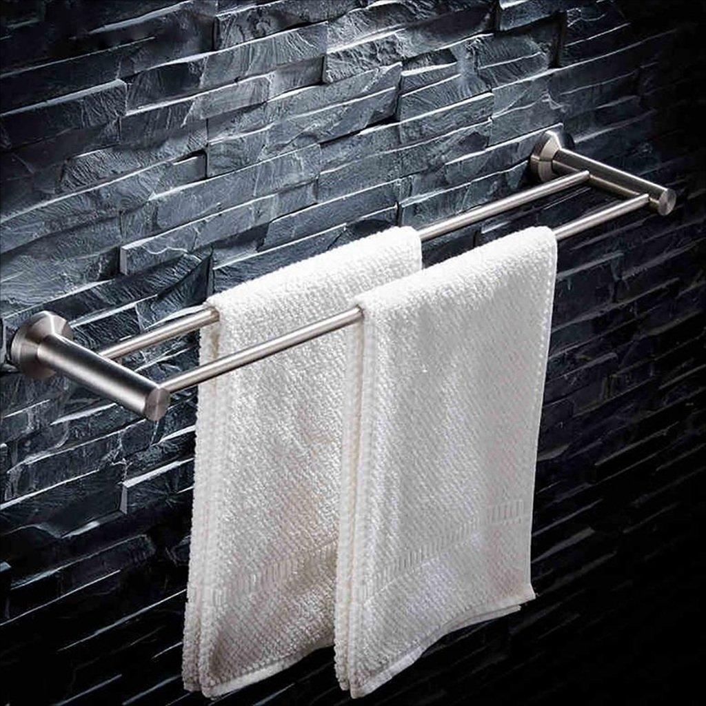 Porte-Serviettes 304 porte-serviettes en acier inoxydable, porte-serviettes de bain, barre de serviette double, supports de salle de bains Porte-serviettes en acier inoxydable (taille : 40 cm) YSJ