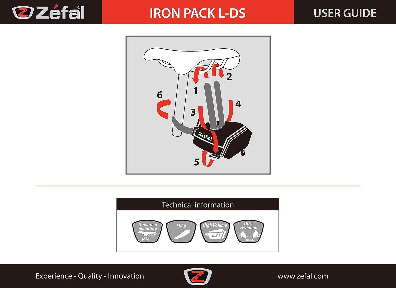 Negro ZEFAL Iron Pack L-DS Bolsa Porta-C/ámaras L Unisex