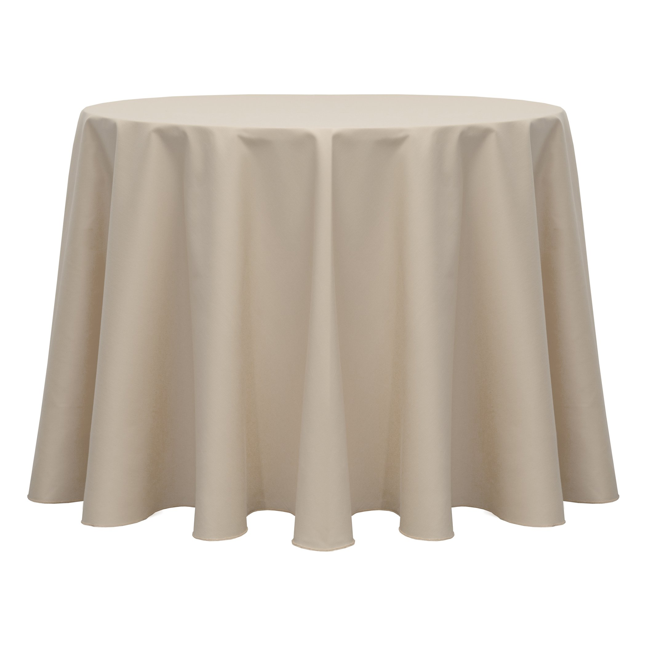Ultimate Textile (10 Pack) Poly-cotton Twill 60-Inch Round Tablecloth - for Restaurant and Catering, Hotel or Home Dining use, Beige