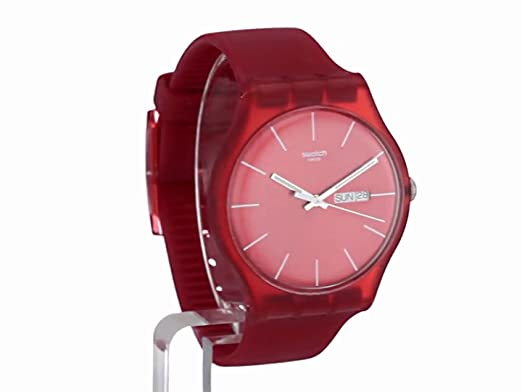 Swatch Analog Herren Rebel Red Quarz Suor701 Armbanduhr hdCtrsQ