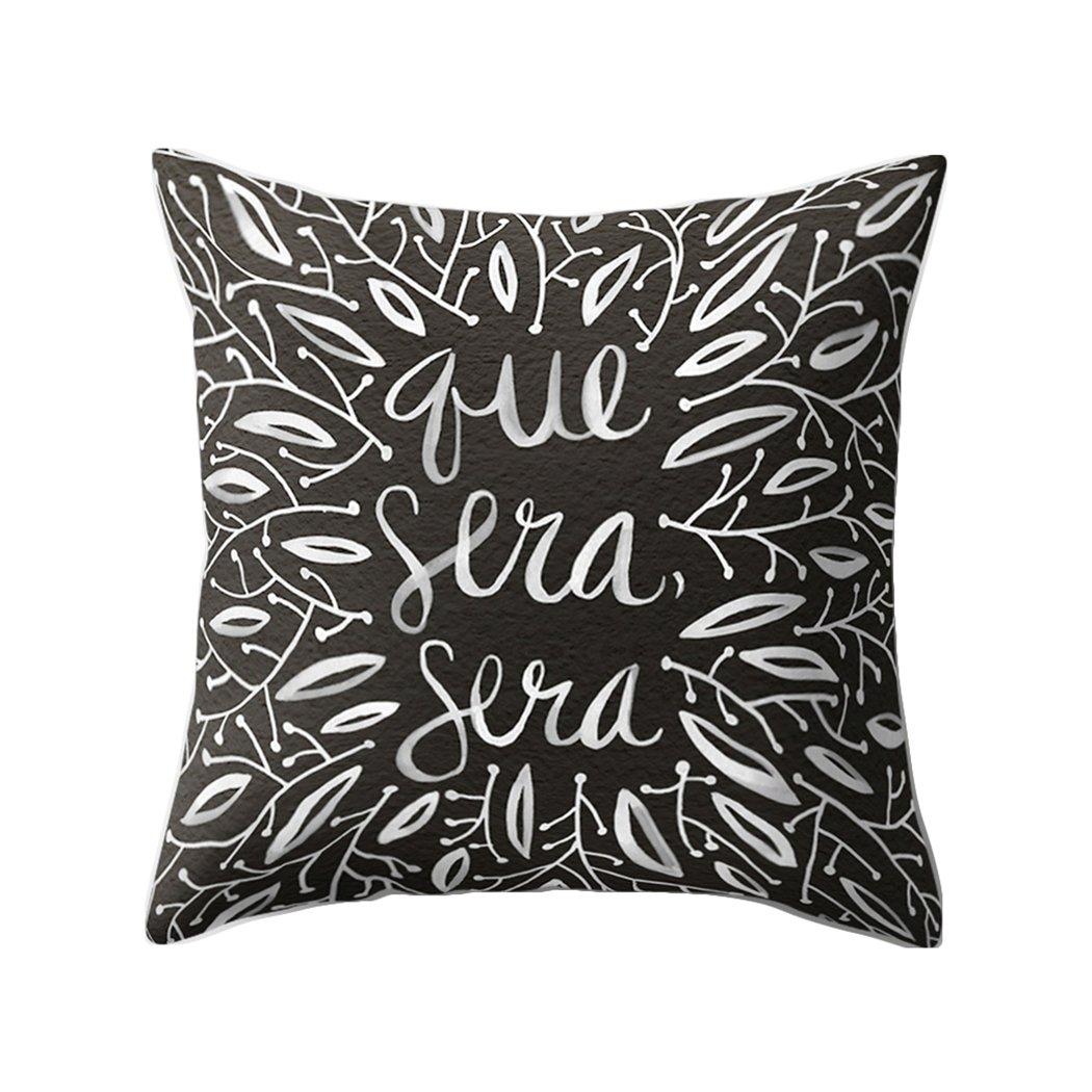 Colorido Fashion English Phrase Print Throw Pillow Case Cushion Cover Sofa Home Decor size Medium (14#)