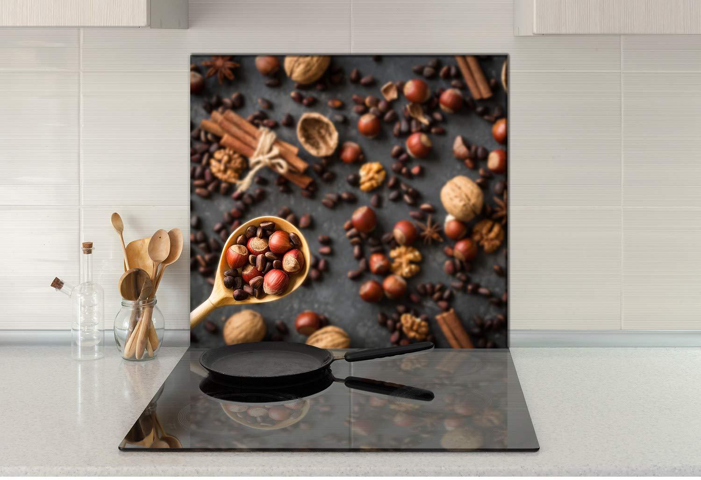 decorwelt - Panel de Vidrio antisalpicaduras para Cocina (65 ...