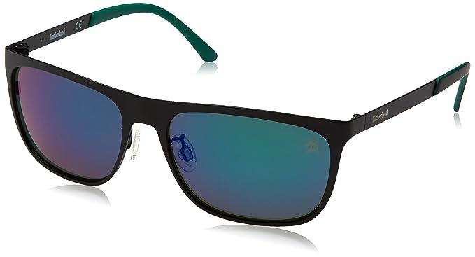 Timberland Sonnenbrille TB9093 5702R, Gafas de Sol para Hombre, Negro (Schwarz),