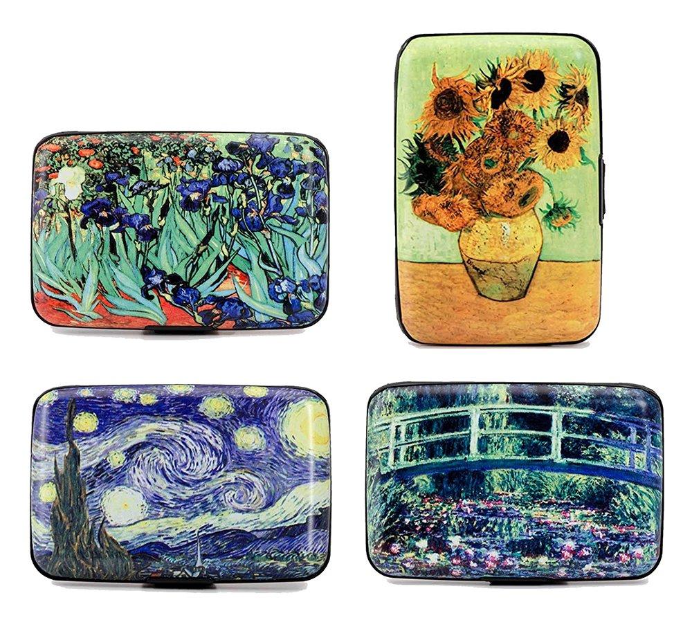 Impressionist Fine Art RFID Wallet, ID Protection, Credit Card Holder, Set of 4