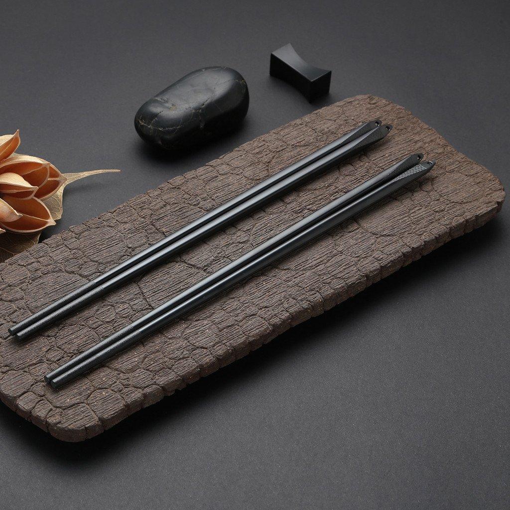 5 Pair Stainless Steel Chopsticks Gift Set Japanese Hotel Restaurant Chopsticks Set (Fish pattern)