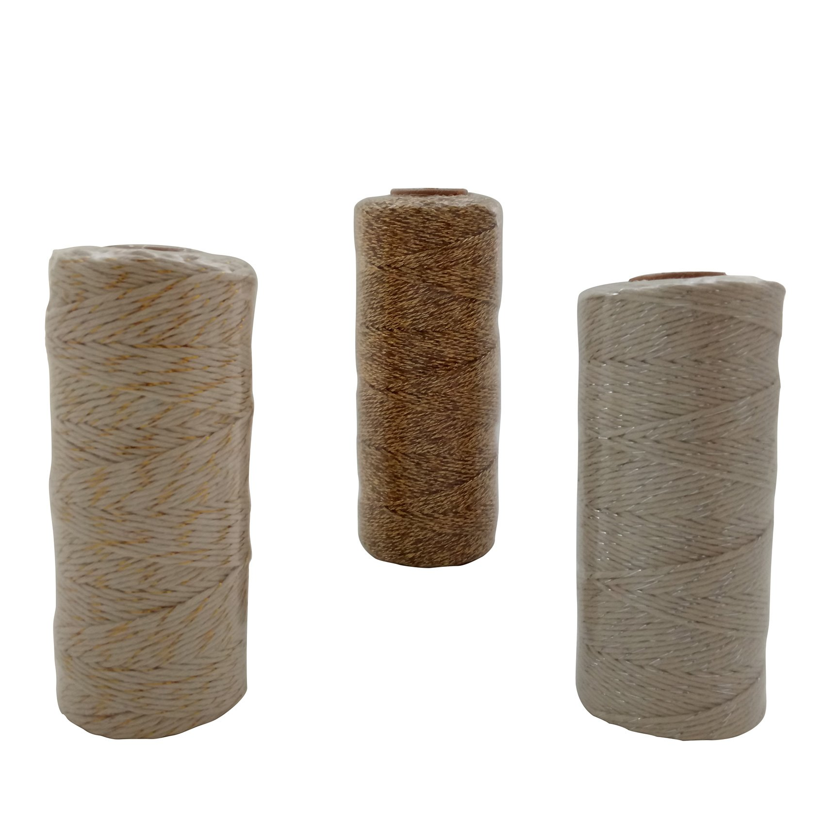 100m IPALMAY 3PCS Cotton Bakers Twine for Garden Twine or Gift Wrapping, Spool 3-Ply