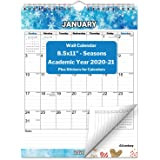 Small Vertical Wall Calendar 2020-2021 (Seasons), Hanging Monthly Wall Calendar, 8.5x11 Inches, Use July 2020 to December 2021, School Year Academic Calendar, Bonus Stickers Included