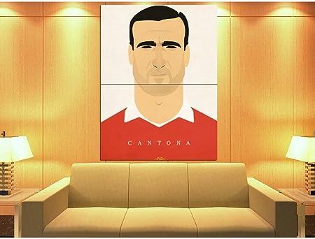 XV1021 Eric Cantona Portrait Manchester United Cool Art Artwork HUGE ...