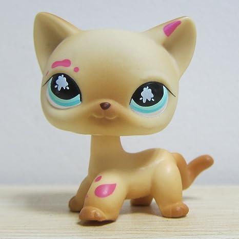 bes88 Littlest Pet Shop colección LPS de gato gatito con rosa pintura
