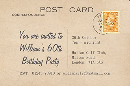 70 birthday invitations personalised for you vintage postcard 70 birthday invitations personalised for you vintage postcard invites18th 21st 30th 40th 50th filmwisefo