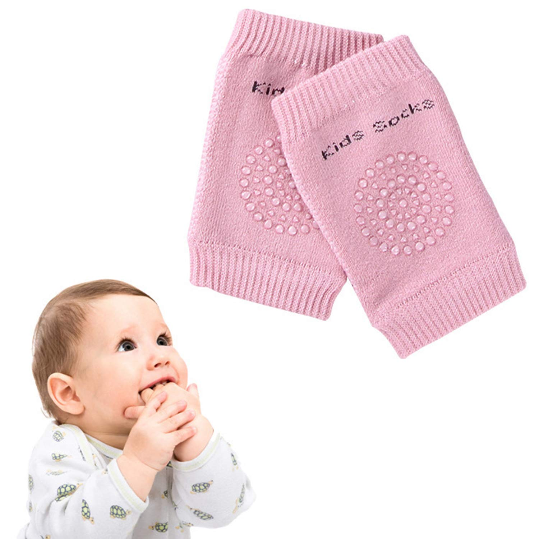 5 Pairs Baby Crawling Anti-Slip Knee Pads Baby Toddlers Kneepads