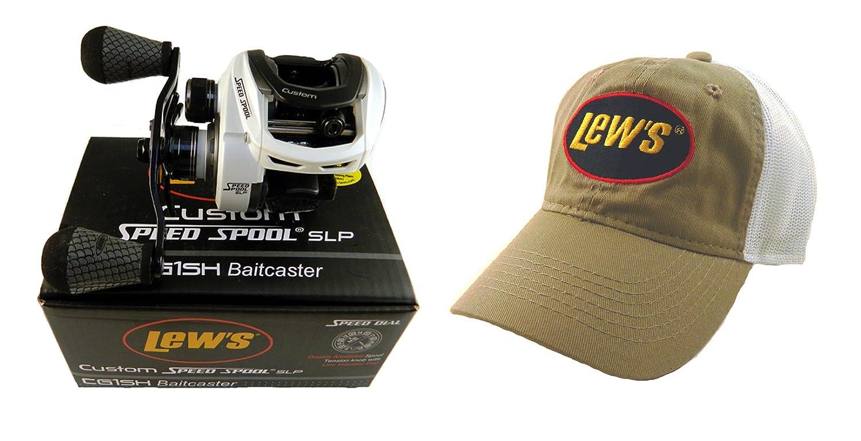 Amazon.com   Bundle - Lew s Custom Speed Spool 7.5 1 CG1SH Baitcast Reel  with Hat   Sports   Outdoors 8614c78dcd86