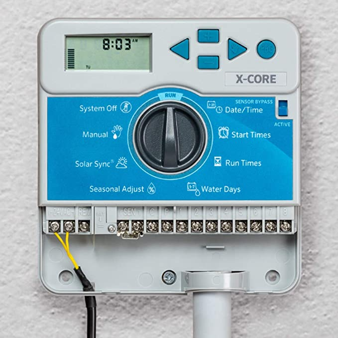 Gray Hunter Industries XC800 X-Core 8-Station Outdoor Irrigation ...