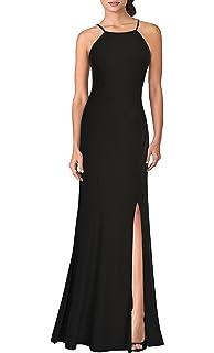 9db260dad9e48 Mmondschein Women's Vintage Halter Wedding Bridesmaid Evening Long Dress