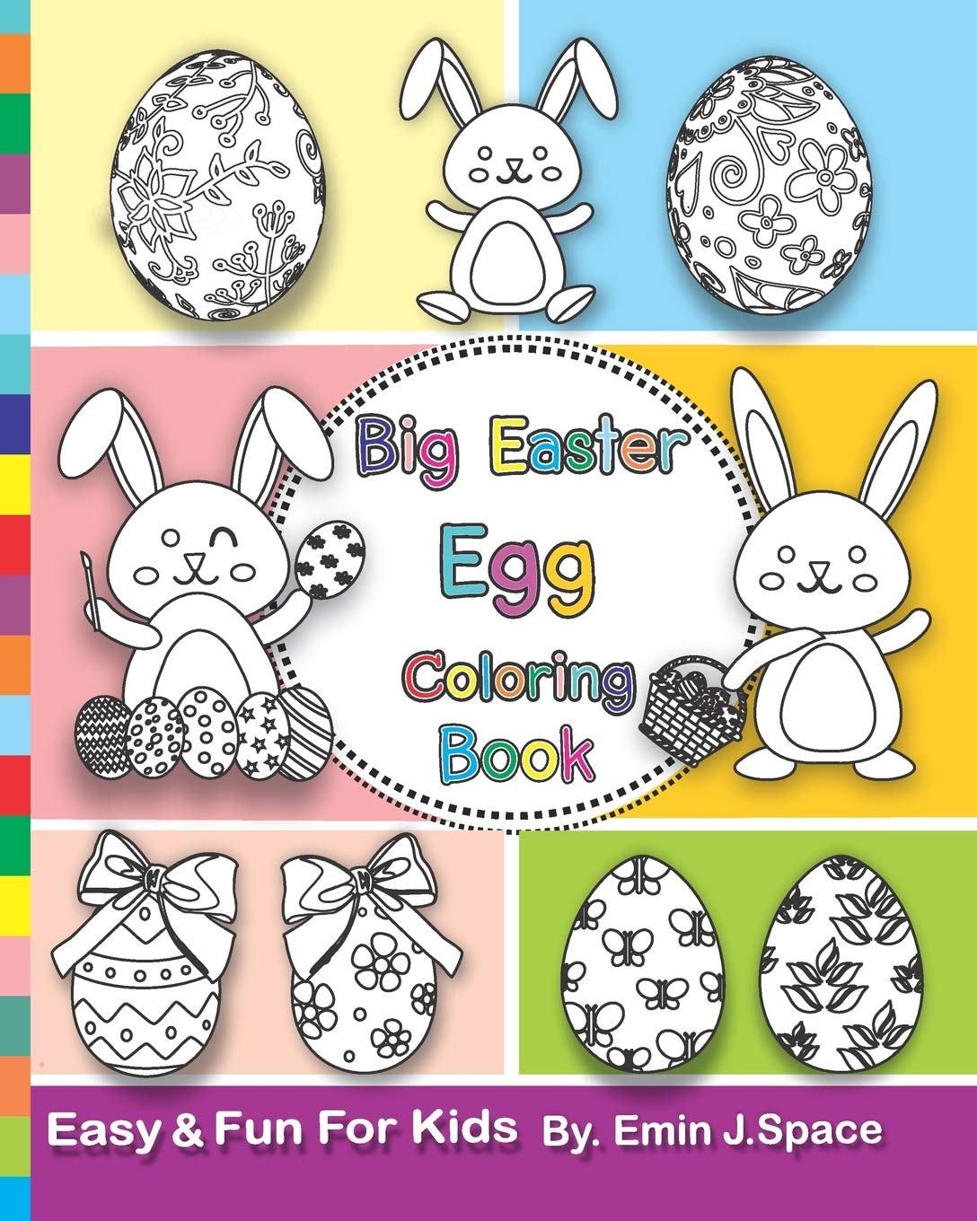Big Easter Egg Coloring Book: Easy Books Toddlers ...