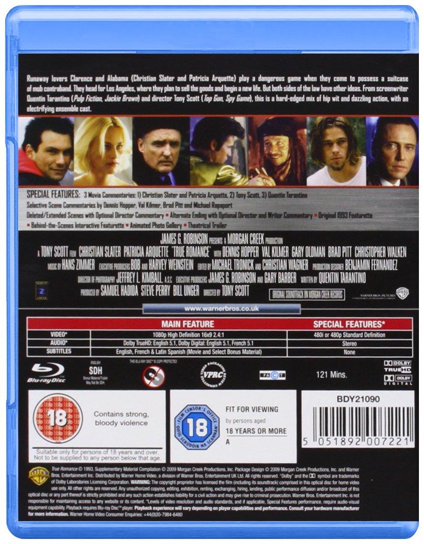 True Romance Edizione: Regno Unito Reino Unido Blu-ray ...