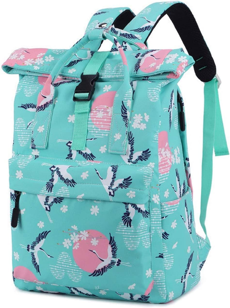 Women Casual Backpack Candy Color Travel Backpack School Bags For Teenagers Girls Shoulder Bag,blue green