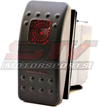 Red 2 Position Rocker Switch 3 Pin Led Lighted 20 amp 12 volt UTV Boat Truck