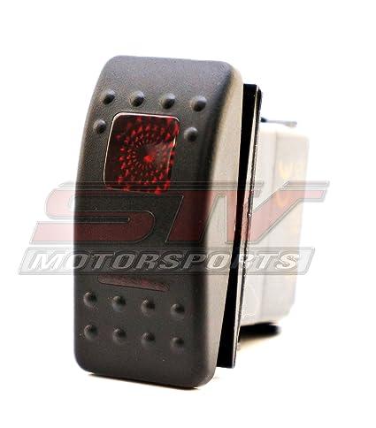 Amazon.com: STVMotorsports Red Auto Rocker Switch ON/ON/Off 12V LED on led toggle switch diagram, 6 prong toggle switch diagram, 4 pin trailer wiring, outdoor flood light wiring diagram, 4 pin wiring a switch,